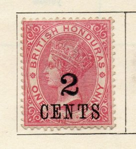 British Honduras 1888 Early Issue Fine Mint Hinged 2c. Surcharged NW-113782