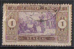 SENEGAL, 1914, used 1c, Scott 79