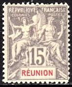 French Colonies, Reunion, #42, used, CV$ 8.75