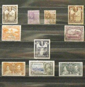 5641   Br Guiana   U # 193,194,206,211,213,215,220,223,227,228    CV$ 10.55