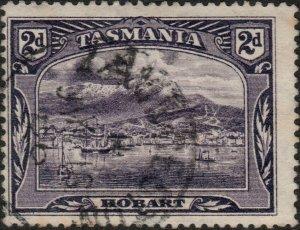 AUSTRALIA / TASMANIA - 1900 (JY 16)  LAUNCESTON  CDS on SG231 2d deep violet