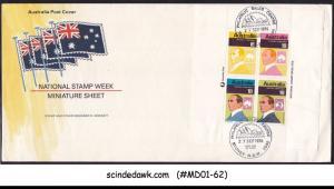 AUSTRALIA - 1976 NATIONAL STAMP WEEK - M/S - FDC