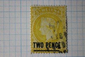 St. Helena sc#36 used thin fault