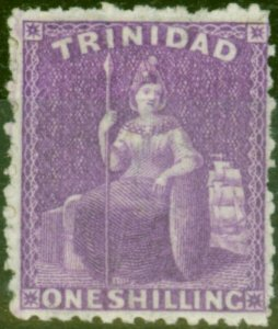 Trinidad 1863 1s Bright & Deep Mauve SG73 Fine & Fresh Mtd Mint (2)