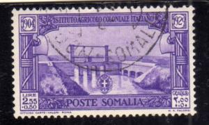 SOMALIA 1930 PRO ISTITUTO AGRICOLO COLONIALE ITALIANO LIRE 2,55 + 50c USATO U...