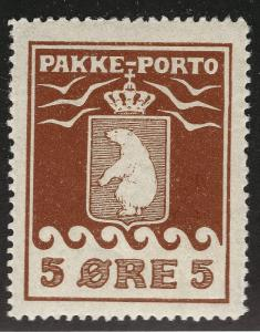Greenland Rare 5Ore Pakke - Porto Parcel Post (Sc Q3) VF/XF MOG...Hard to Find!