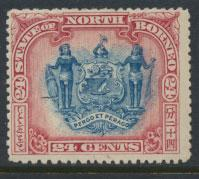 North Borneo SG 109a MLH compound perf see details error inscription see scans
