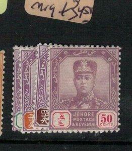 Malaya Johore SG 116-9 MOG (8exb)