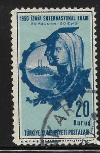 TURKEY ,1011, USED, SYMBOLICAL OF THE FAIR