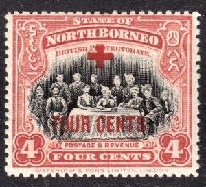 North Borneo Scott B34  F to VF mint OG H.