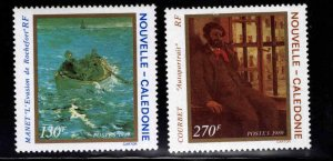 New Caledonia (NCE) Scott 623-624 MH* Impresionist painting set