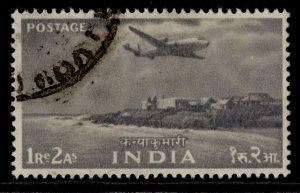 INDIA QEII SG367, 1r 2a grey, FINE USED.