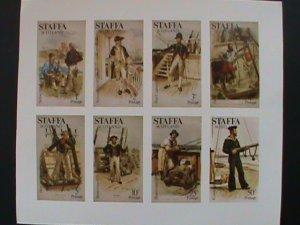 STAFFA SCOTLAND STAMP:MILITARY  SOLDIERS   IMPERF- MNH - MINI SHEET