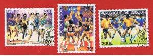 Djibouti #503-505  VF used  Olympics  Free S/H