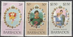 Barbados #547-9  MNH  (S2926)