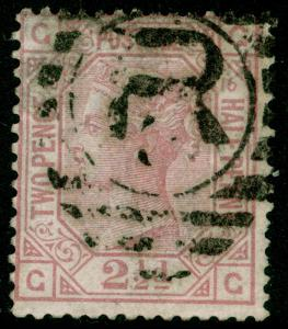 SG141, 2½d rosy mauve PLATE 16, USED. Cat £60. GG