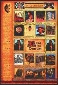 Dominica. 2000. Small sheet 2986-3005. Millennium, Ming Dynasty, Robin Hood, ...