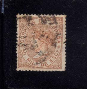 SPAIN 1867 USED Isabel II ED.96 SC.97