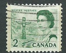 Canada SG 580 Used perf 12  - 2 phosphor bands