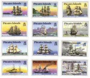 Pitcairn #298-309 MNH set – tall ships