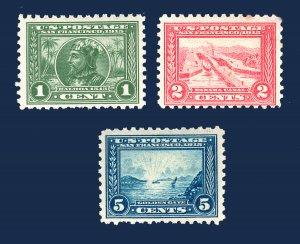 US STAMPS #401-403 PANAMA-EXPOSITION SET M/OG CV $240