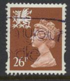 Great Britain Wales  SG W74 SC# WMMH61 Used  see details 2 band