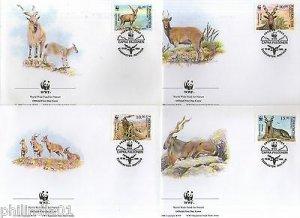Uzbekistan 1995 WWF Markho Wild Goat Sc 64-7 Wildlife Animal Mammal Fauna FDC 84