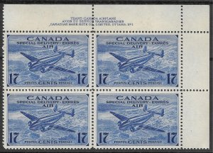 Doyle's_Stamps: Scott #CE2** Canadian 1943 NH Air Post Special Delivery PNB