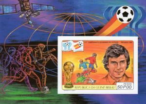 Guinea-Bissau 1982 Mi.Bl.222B WORLD CUP SPAIN 82/SPACE S/S Imperforated MNH
