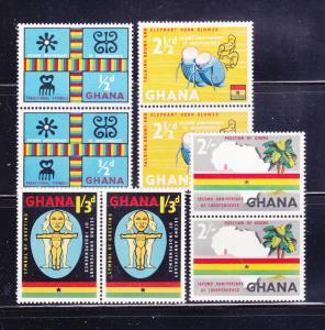 Ghana 42-45 Pairs Set MNH Various (D)
