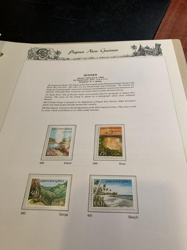 STAMP STATION PERTH: PNG Complete Collection from 1952 to 1989 Mint Never Hinged
