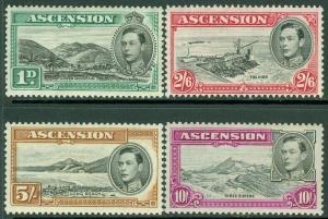 EDW1949SELL : ASCENSION 1944 Scott #41, 47-49 VF, Mint OG. Key Values Cat $101