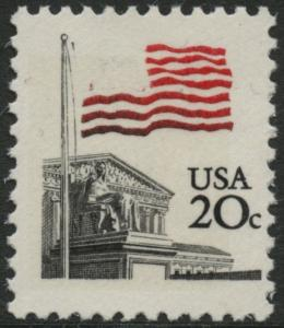 #1894C 20¢ FLAG ISSUE WITH BLUE OMITTED MAJOR ERROR BL2213