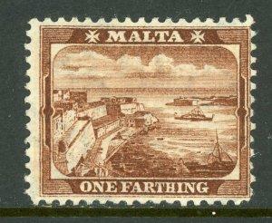 Malta 1901 QV 1f Red Brown Scott #19 Mint A353 ⭐⭐⭐