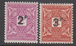 Ivory Coast J17-J18 MH CV $5.50
