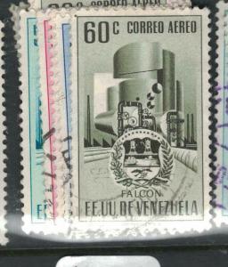 Venezuela Arms SC C455-7, C458-9 VFU (5dwi)