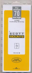 Prinz Scott Stamp Mount 70/265 CLEAR Background Pack of 10