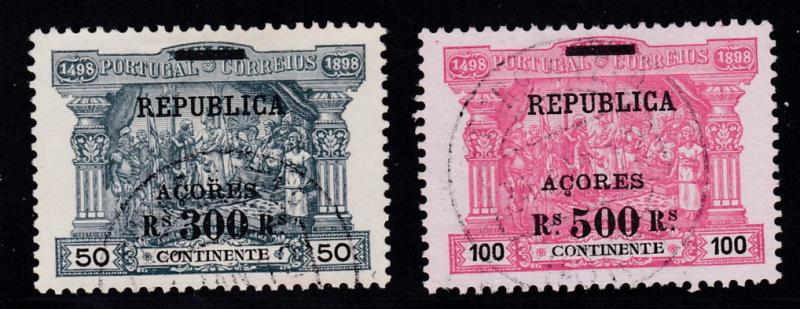 Azores 1911 Postage Due Stamps of Portugal Overprinted for use in Azores VF/(o)