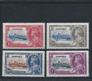 DOMINICA 1935 SILVER JUBILEE SET MM SG 92/95 CAT £20