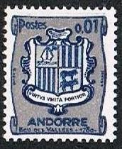 1964 Andorra-French Scott 161 Arms Type 1961 MNH