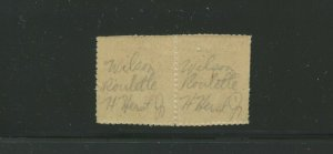 532 Var Washington Offset Imperf Pair 2 Stamps WILSON ROULETTE SIGN HERMAN HERST