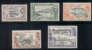 NIGERIA #87-91 High values of set, all og, NH, VF, Scott $78.50