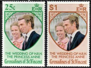 St. Vincent Grenadines Scott 1-2  complete set  F to VF mint OG NH.