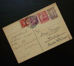 Slovenia 1921 Yugoslavia SHS to Germany - Czechoslovakia Stamps? R! B1