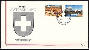 Switzerland, Scott cat. 627-628. Europa-Views issue. First day cover. ^