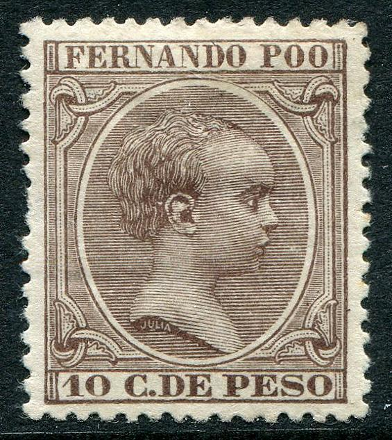 HERRICKSTAMP FERNANDO PO Sc.# 17 Mint Hinged Scott Retail $450.00