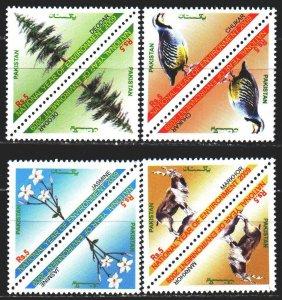 Pakistan. 2009. 1323-26. Fauna and flora of Pakistan, pheasant. MNH.