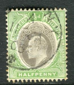 SOUTHERN NIGERIA;  1904 early ED VII issue fine used 1/2d. value, Shade