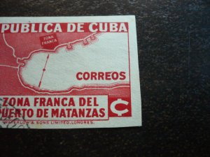 Stamps - Cuba - Scott#325 - Used Imperf Single Stamp - Printing Variation