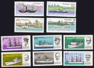 Poland #2341/2409 ships MNH